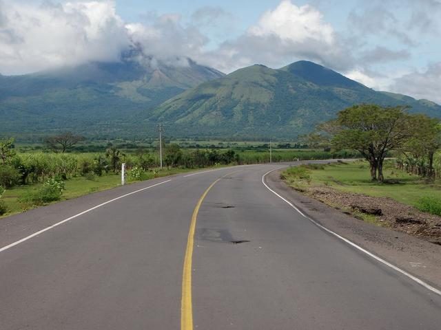Heading toward the volcano