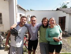 Andreas (from Argentina), Santiago (the owner of the Casa), Sergio and Miriam.