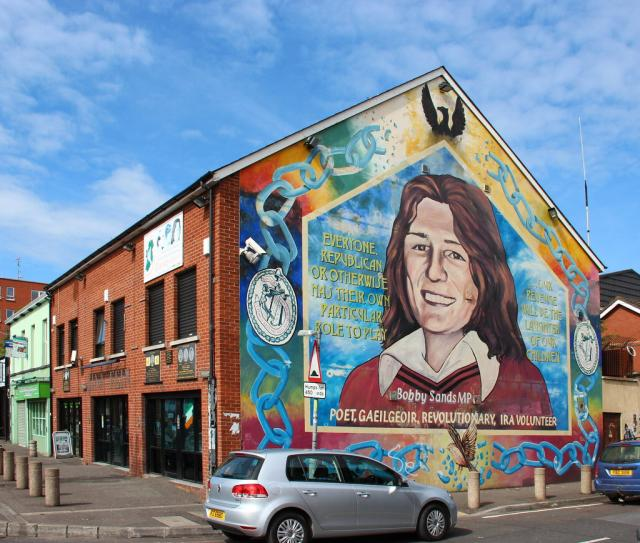 Sinn Féin building--political arm of the IRA