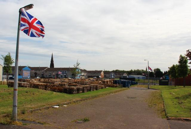 Lot's of wood getting ready for the bonfires.