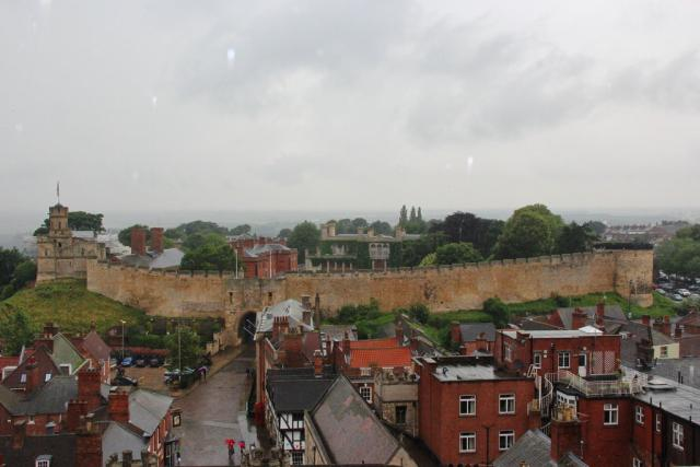 Lincoln Castle from the roof of the Cathederal