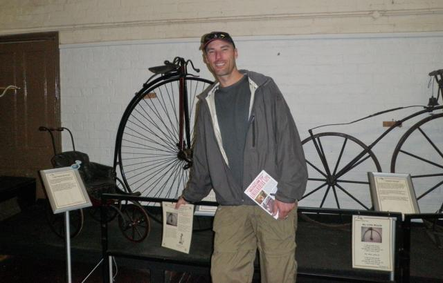 Me and some old bikes in the Museum of Lincolnshire Life