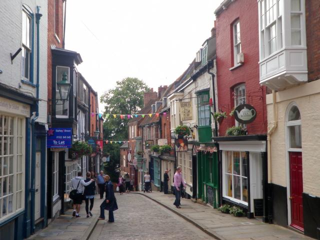 Steep Hill street in Lincoln