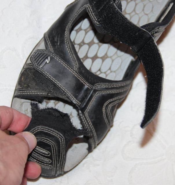 My new Nashbar Ragster II Cycling Sandals didn't last long.