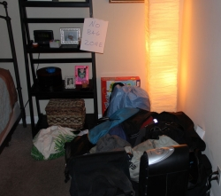 Back in Florida... here's my pile of stuff.